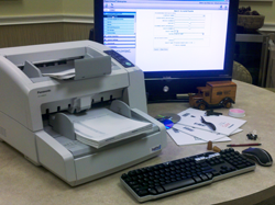 Document Scanning and Computer Monitor