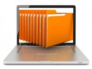 File folders in a laptop